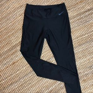 Nike Dri-Fit Mesh Panel Black Leggings